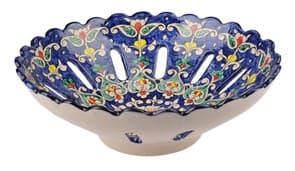 Фруктовница Риштанская Керамика 28 см, микс