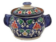 Сахарница Риштанская Керамика 0,5 л. синяя